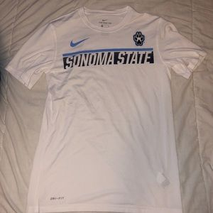 Sonoma State white athletic tee